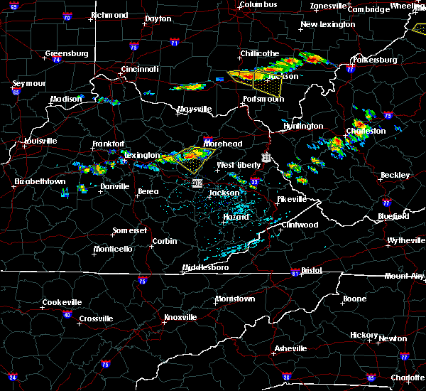 Radar Image for Severe Thunderstorms near Morehead, KY at 6/23/2015 3:36 PM EDT