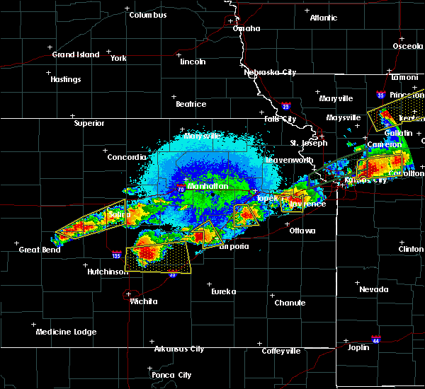 Radar Image for Severe Thunderstorms near Dunlap, KS at 9/27/2019 8:34 PM CDT