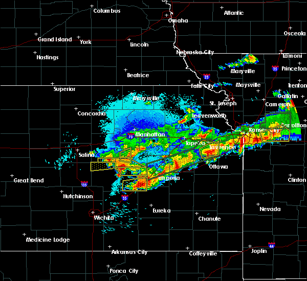 Radar Image for Severe Thunderstorms near White City, KS at 9/27/2019 10:29 PM CDT