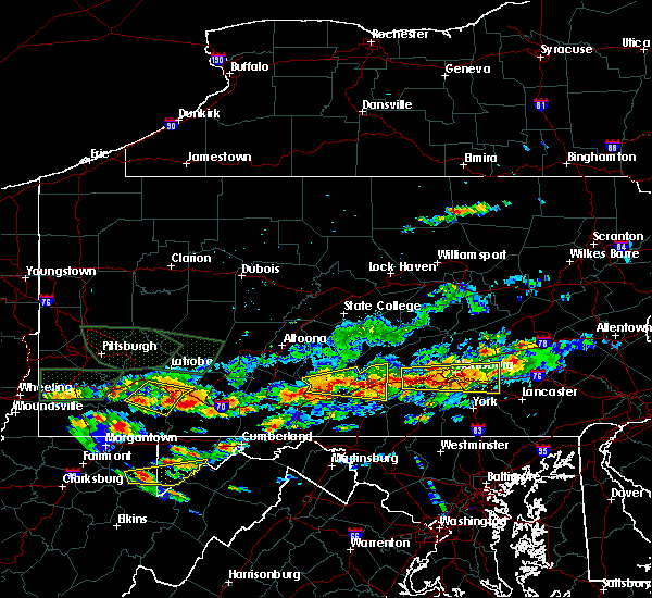 Radar Image for Severe Thunderstorms near Orrstown, PA at 6/23/2015 3:59 PM EDT