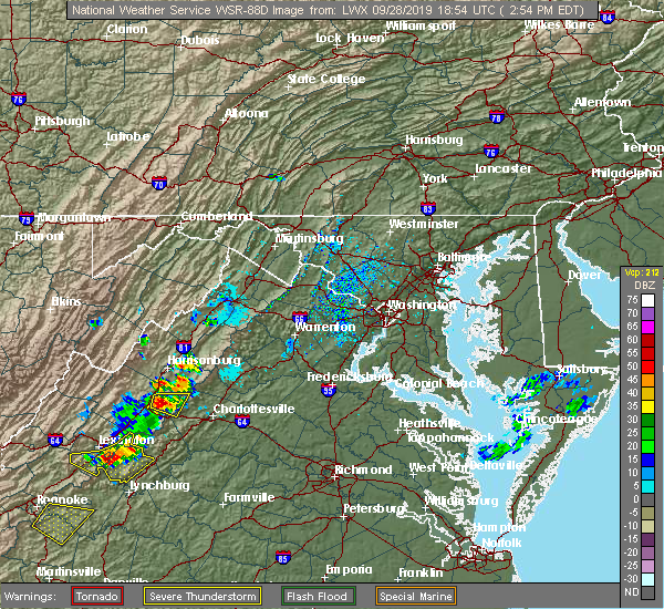 Radar Image for Severe Thunderstorms near Shenandoah, VA at 9/28/2019 3:01 PM EDT
