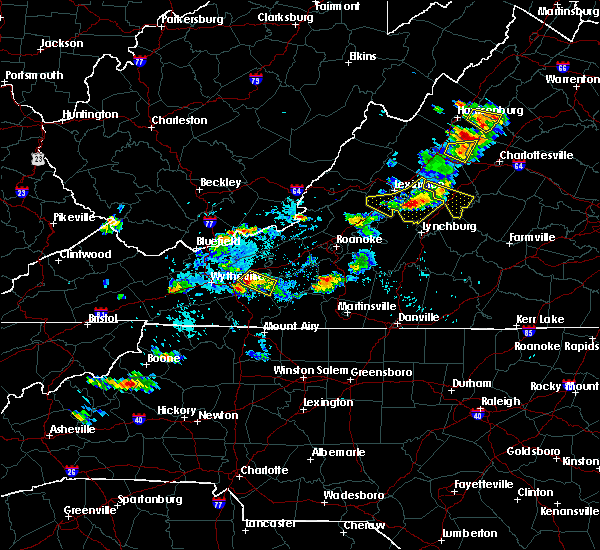 Radar Image for Severe Thunderstorms near Hiwassee, VA at 9/28/2019 3:18 PM EDT