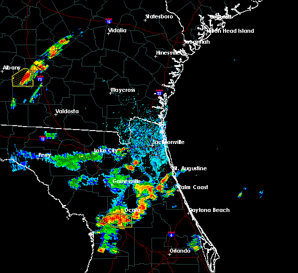 Radar Image for Severe Thunderstorms near Fleming Island, FL at 6/23/2015 4:09 PM EDT
