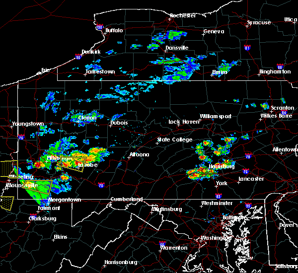 Radar Image for Severe Thunderstorms near Timber Hills, PA at 9/28/2019 7:16 PM EDT