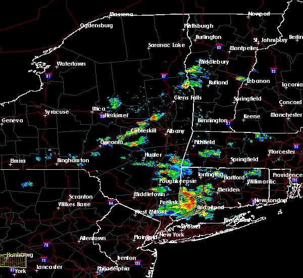 Radar Image for Severe Thunderstorms near Hudson, NY at 6/23/2015 4:15 PM EDT