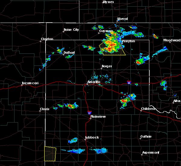 Radar Image for Severe Thunderstorms near Spearman, TX at 9/28/2019 7:42 PM CDT