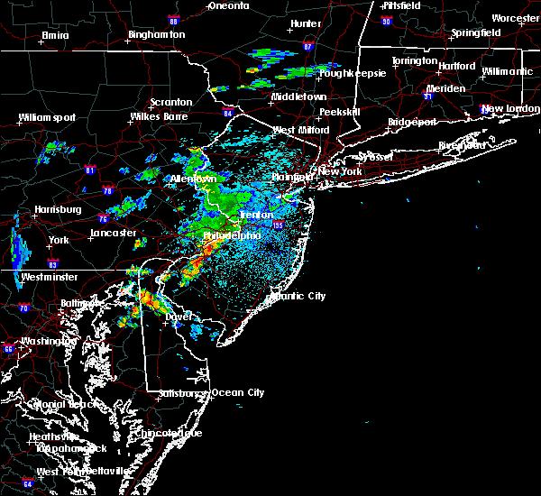 Radar Image for Severe Thunderstorms near Leisuretowne, NJ at 9/28/2019 10:44 PM EDT