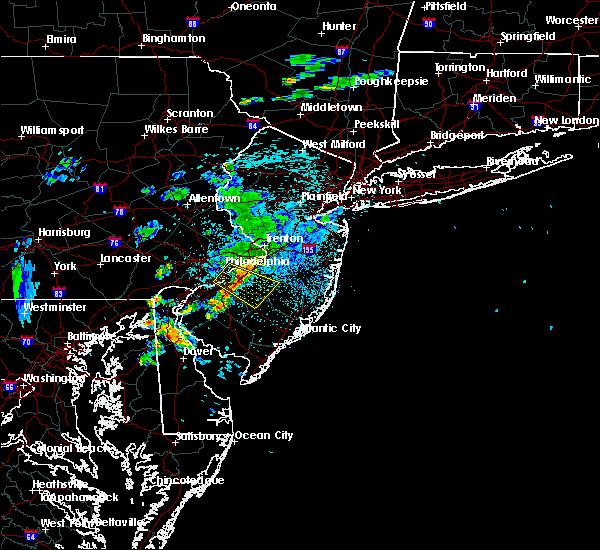 Radar Image for Severe Thunderstorms near Leisuretowne, NJ at 9/28/2019 10:57 PM EDT
