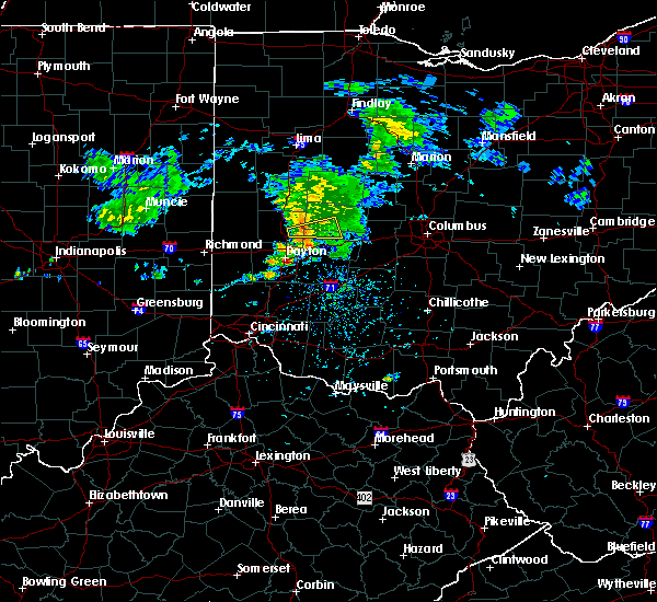 Radar Image for Severe Thunderstorms near Springfield, OH at 9/29/2019 4:42 PM EDT