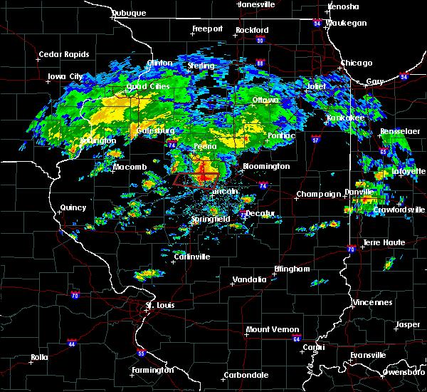 Radar Image for Severe Thunderstorms near Atlanta, IL at 9/29/2019 4:33 PM CDT
