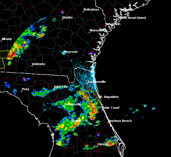 Radar Image for Severe Thunderstorms near Flagler Estates, FL at 6/23/2015 4:41 PM EDT