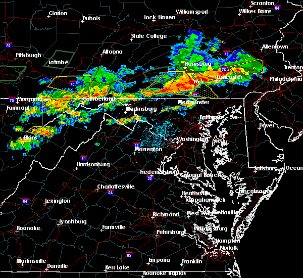Radar Image for Severe Thunderstorms near Hanover, PA at 6/23/2015 4:52 PM EDT