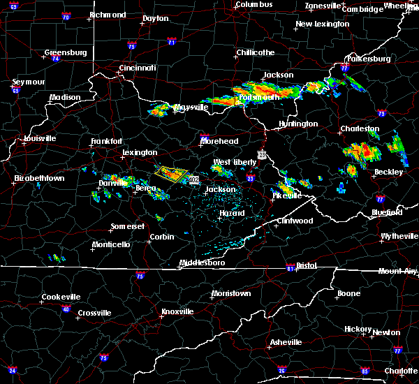 Radar Image for Severe Thunderstorms near Stanton, KY at 6/23/2015 4:58 PM EDT