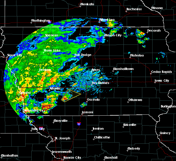 Radar Image for Severe Thunderstorms near Orient, IA at 10/1/2019 4:02 PM CDT