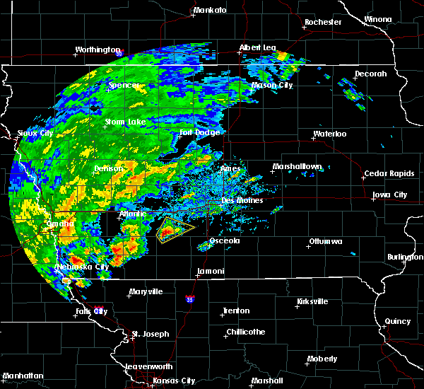 Radar Image for Severe Thunderstorms near Orient, IA at 10/1/2019 4:10 PM CDT