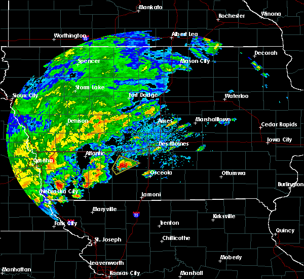 Radar Image for Severe Thunderstorms near Orient, IA at 10/1/2019 4:22 PM CDT