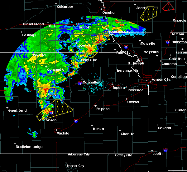 Radar Image for Severe Thunderstorms near Manchester, KS at 10/1/2019 5:01 PM CDT