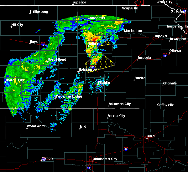 Radar Image for Severe Thunderstorms near Lehigh, KS at 10/1/2019 5:20 PM CDT