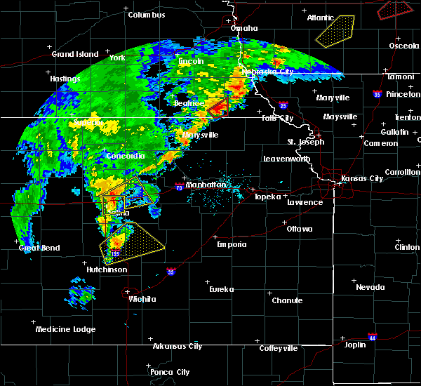 Radar Image for Severe Thunderstorms near Wakefield, KS at 10/1/2019 5:34 PM CDT