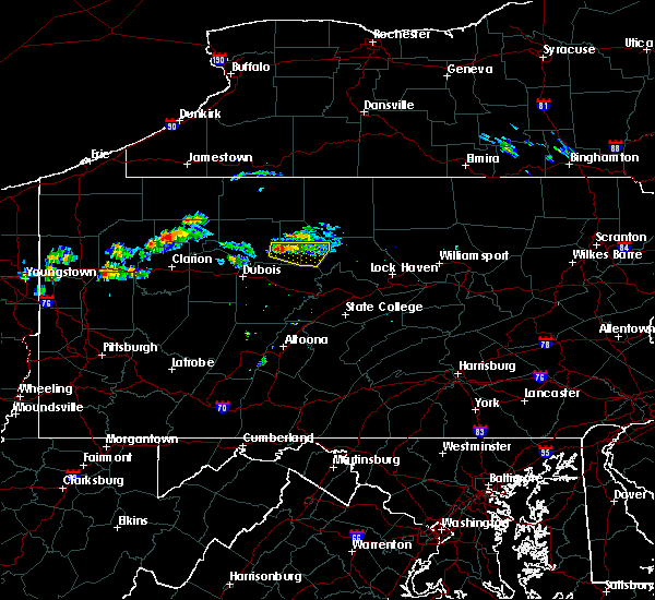 Radar Image for Severe Thunderstorms near St. Marys, PA at 10/3/2019 4:12 PM EDT