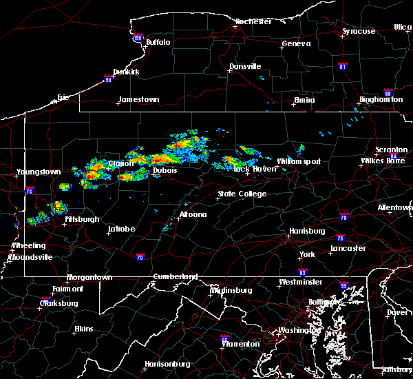 Radar Image for Severe Thunderstorms near Byrnedale, PA at 10/3/2019 5:15 PM EDT