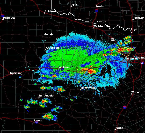 Radar Image for Severe Thunderstorms near Ranger, TX at 10/6/2019 4:44 PM CDT