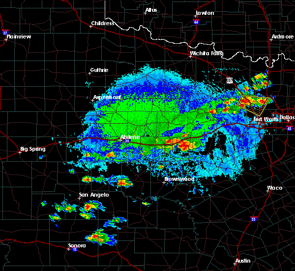 Radar Image for Severe Thunderstorms near Gorman, TX at 10/6/2019 4:44 PM CDT