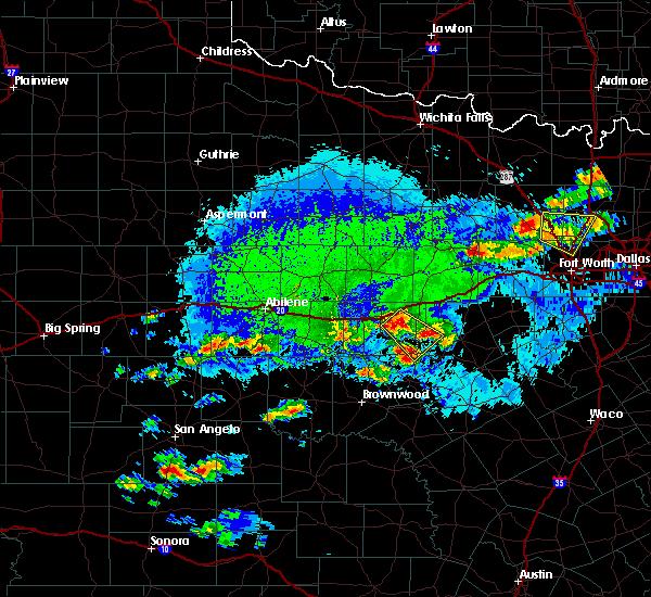 Radar Image for Severe Thunderstorms near Gorman, TX at 10/6/2019 5:17 PM CDT