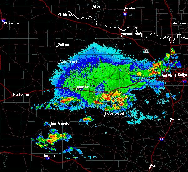 Radar Image for Severe Thunderstorms near Gorman, TX at 10/6/2019 5:38 PM CDT