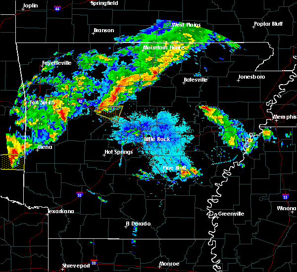 Radar Image for Severe Thunderstorms near Dover, AR at 10/6/2019 6:02 PM CDT