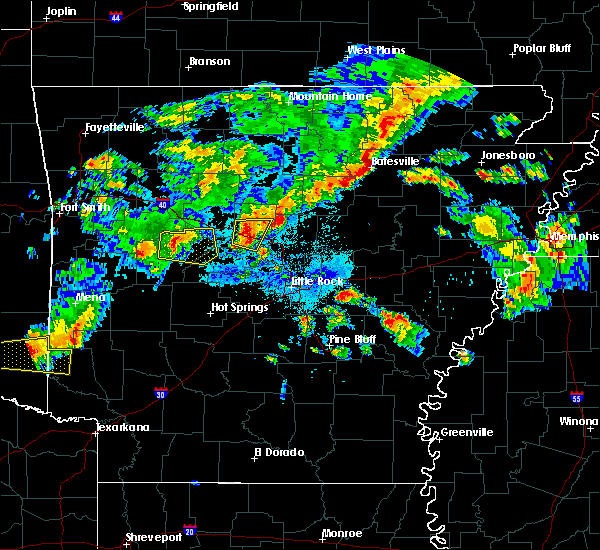 Radar Image for Severe Thunderstorms near Woodson, AR at 10/6/2019 6:56 PM CDT
