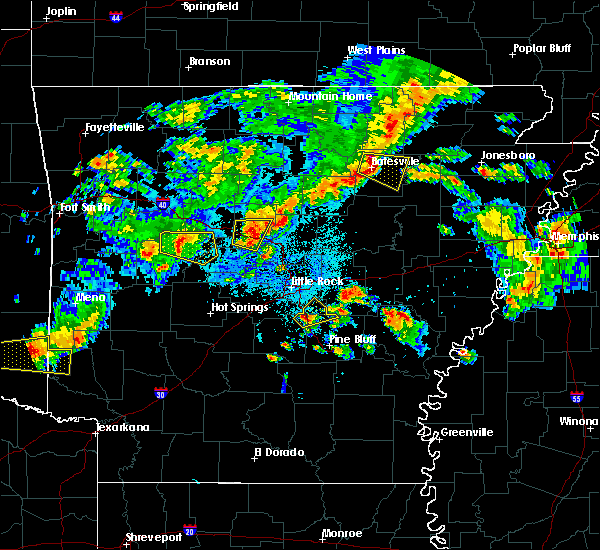 Radar Image for Severe Thunderstorms near Ola, AR at 10/6/2019 7:04 PM CDT