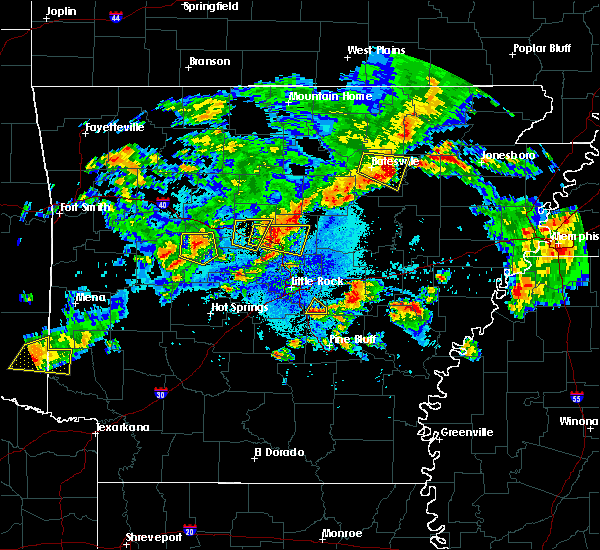 Radar Image for Severe Thunderstorms near Woodson, AR at 10/6/2019 7:16 PM CDT