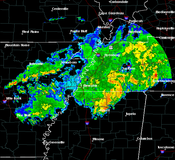 Radar Image for Severe Thunderstorms near Holly Springs, MS at 10/7/2019 12:08 AM CDT