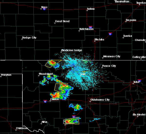 Radar Image for Severe Thunderstorms near Canton, OK at 10/9/2019 9:54 PM CDT