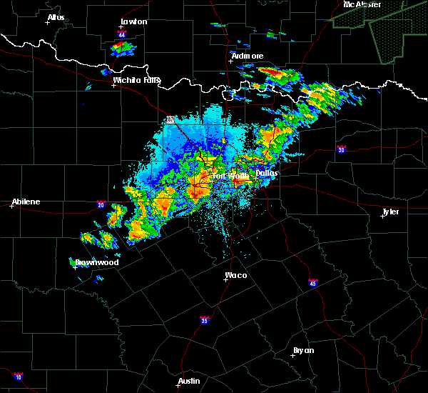 Radar Image for Severe Thunderstorms near Kennedale, TX at 10/10/2019 8:54 PM CDT