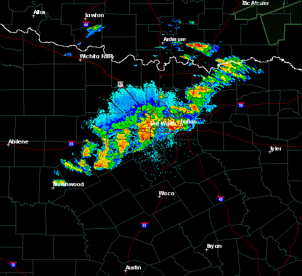 Radar Image for Severe Thunderstorms near Balch Springs, TX at 10/10/2019 9:09 PM CDT
