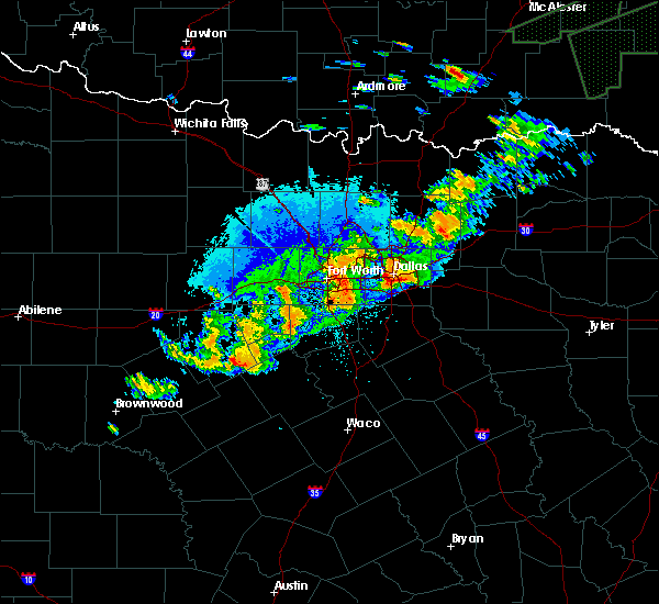 Radar Image for Severe Thunderstorms near Keller, TX at 10/10/2019 9:30 PM CDT