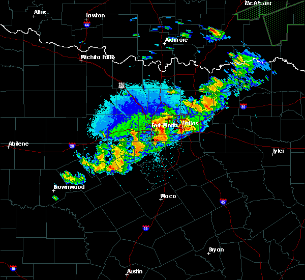 Radar Image for Severe Thunderstorms near Keller, TX at 10/10/2019 9:34 PM CDT