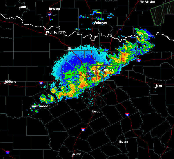 Radar Image for Severe Thunderstorms near Keller, TX at 10/10/2019 9:50 PM CDT