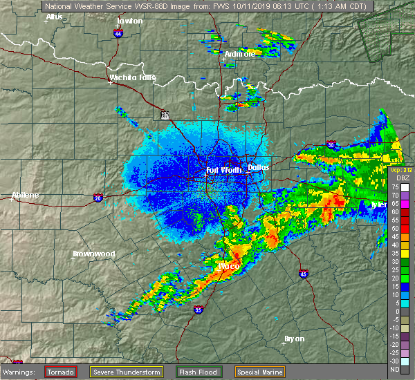 Radar Image for Severe Thunderstorms near Edom, TX at 10/11/2019 1:14 AM CDT