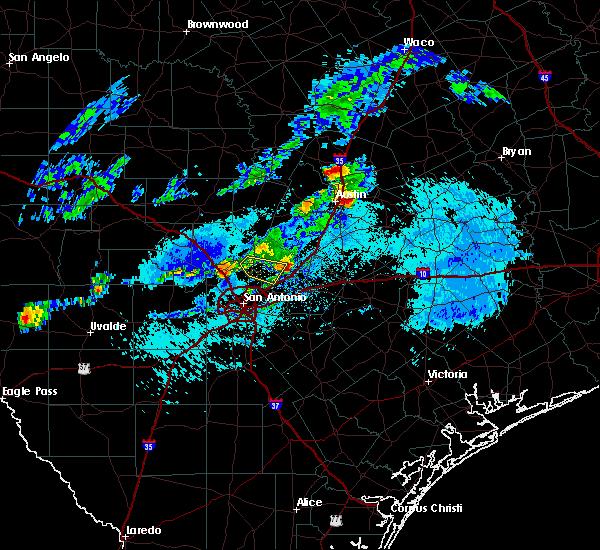 Radar Image for Severe Thunderstorms near Kingsbury, TX at 10/15/2019 6:33 PM CDT