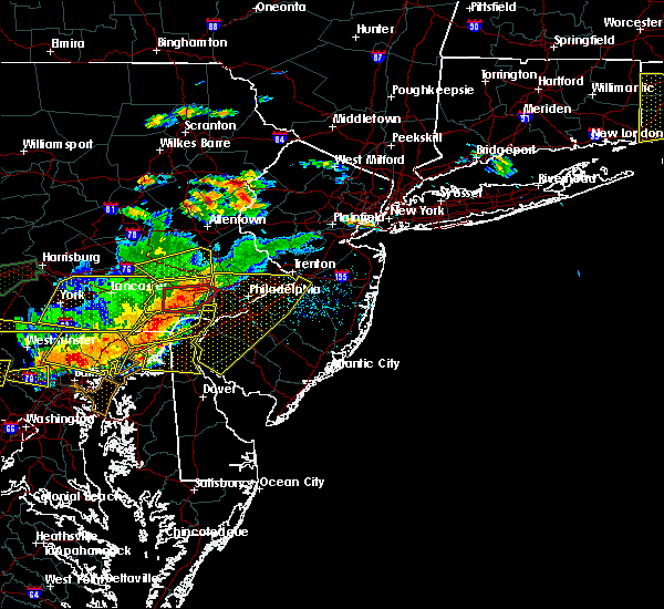 Radar Image for Severe Thunderstorms near Trevose, PA at 6/23/2015 5:41 PM EDT