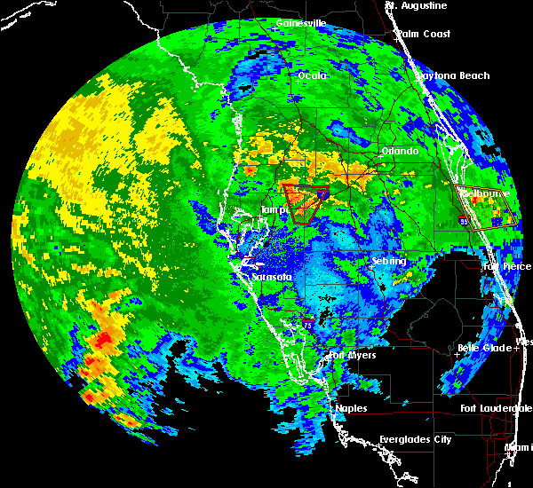 Radar Image for Severe Thunderstorms near Kathleen, FL at 10/18/2019 11:03 PM EDT