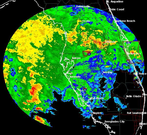 Radar Image for Severe Thunderstorms near Kathleen, FL at 10/18/2019 11:43 PM EDT