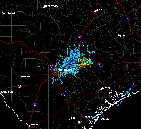 Radar Image for Severe Thunderstorms near Kingsbury, TX at 10/20/2019 6:39 PM CDT