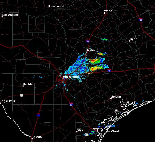 Radar Image for Severe Thunderstorms near Kingsbury, TX at 10/20/2019 6:59 PM CDT