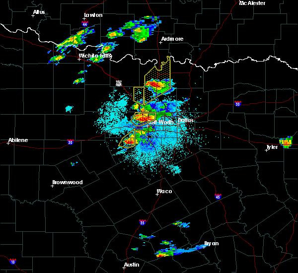 Radar Image for Severe Thunderstorms near Callisburg, TX at 10/20/2019 7:58 PM CDT