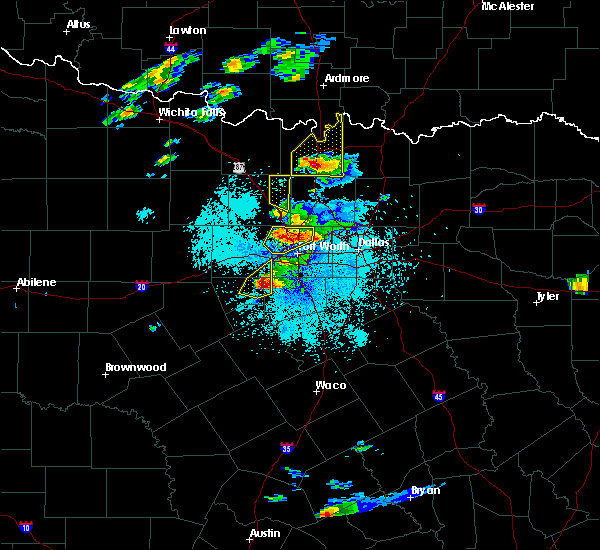 Radar Image for Severe Thunderstorms near Callisburg, TX at 10/20/2019 8:01 PM CDT