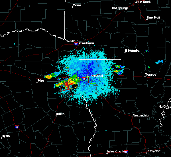 Radar Image for Severe Thunderstorms near Carthage, TX at 10/20/2019 8:04 PM CDT